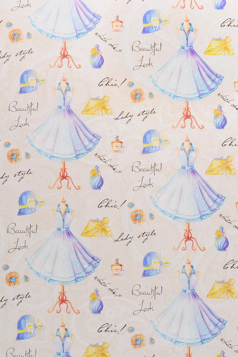 Бумага упаковочная Голубое платье, 100 х 70 см39495Даже небольшой подарок, будучи красиво упакованным, может зажечь фантазию получателя и подарить немало ярких впечатлений еще до того, как он развернет ее. С помощью упаковочной бумаги Голубое платье вы сможете создать восхитительную эксклюзивную упаковку для подарков родным и близким. Мелованная с одной стороны бумага оформлена изображением манекена с голубым платьем. Длина бумаги: 100 см. Ширина бумаги: 70 см. Плотность: 80 г/м2.