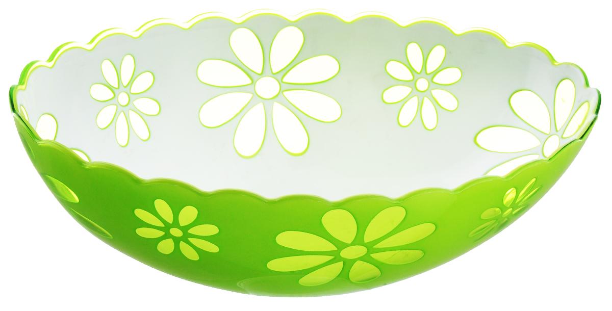 Салатник Альтернатива Соблазн, цвет: салатовый, белый, 1,3 лМ2313Салатник Альтернатива Соблазн выполнен из высококачественного пластика. Изделие доставит истинное удовольствие ценителям прекрасного. Яркий дизайн, несомненно придется вам по вкусу. Салатник Альтернатива Соблазн украсит ваш кухонный стол, а также станет замечательным подарком к любому празднику. Объем: 1,3 л.