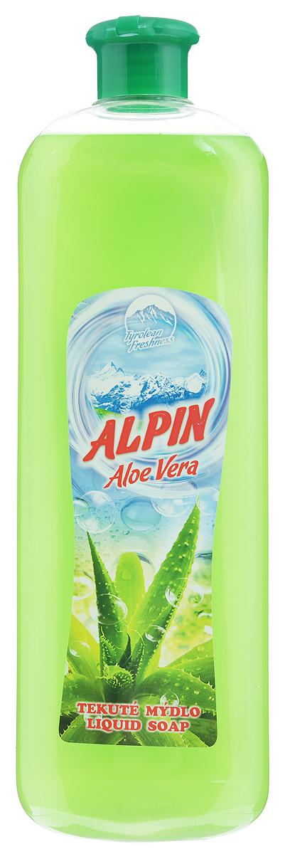Жидкое мыло Alpin Aloe Vera, 1 лАB1000PAVAЖидкое мыло Alpin Aloe Vera подходит для бережного очищения кожи от любых загрязнений, обладает приятным ароматом. Создает обильную мыльную пену и придает коже ощущение чистоты, гладкости и шелковистости. Это мыло хорошо растворяется, имеет сбалансированный уровень рН, не вызывает раздражения и подходит для ежедневного очищения даже самой чувствительной кожи лица, рук и тела. Товар сертифицирован.