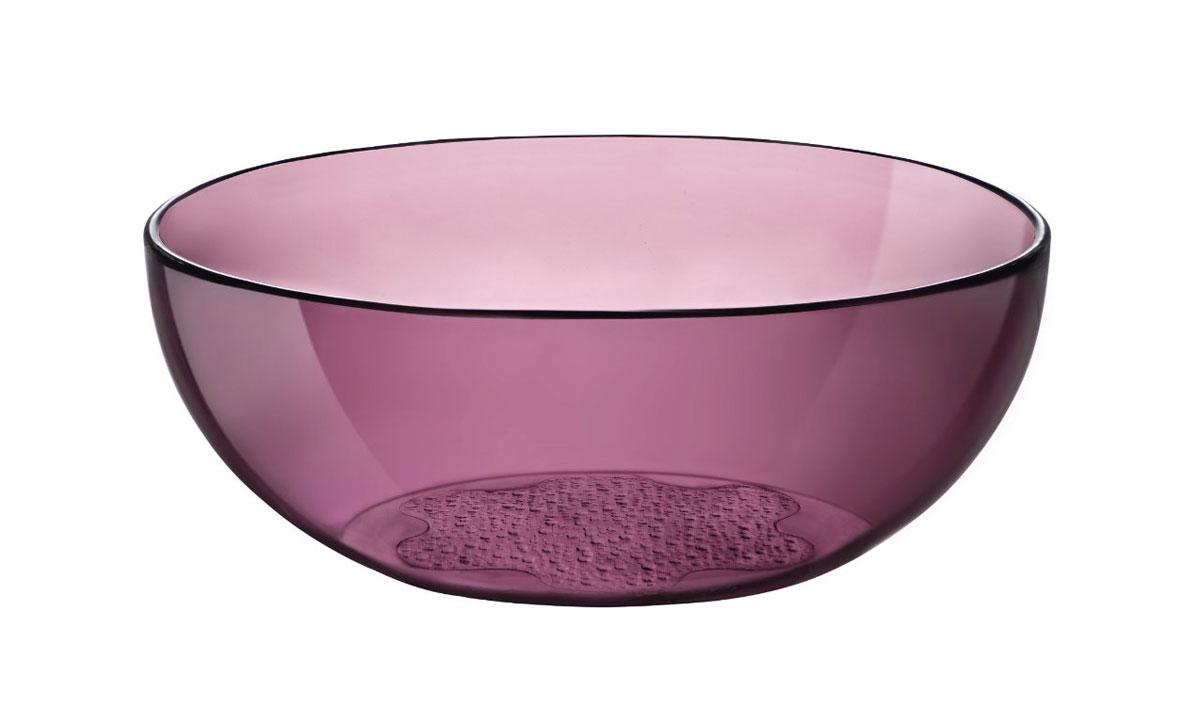 Салатник Bormioli Rocco Hya Purple, цвет: бордовый, диаметр 23 см460530F26321990Салатник Bormioli Rocco Hya Purple выполнен из высококачественного стекла. Дно изделия с внешней стороны оформлено рельефным рисунком. Функциональный и вместительный, такой салатник станет достойным дополнением к вашему кухонному инвентарю. Диаметр салатника по верхнему краю: 23 см. Высота стенки салатника: 8,5 см.