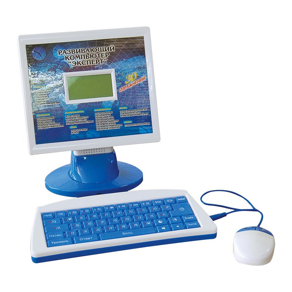 Компьютер 20227E Эксперт 30 упражнений, обучающий, с мышкой, на батарейках, в коробкеB329064R30 различных упражнений (изучаем время, буквы, цифры, английский и русский язык, музыку, развиваем логику), удобный ЖК-экран, поворот монитора в двух плоскостях, автоматическое выключение, интерактивная мышь, регулировка громкости и контрастности. Монитор компьютера находится отдельно от клавиатуры (не лэптоп), клавиатура на 2-ух языках.
