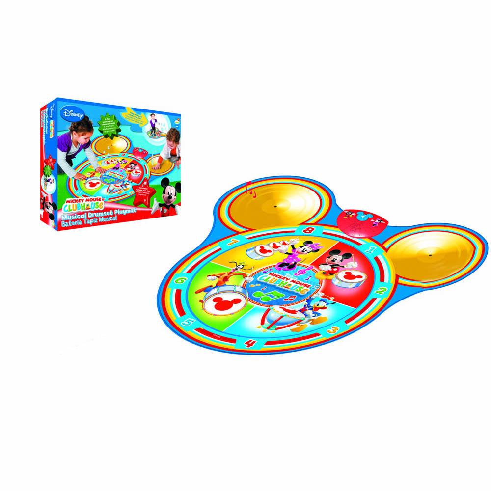 Коврик 180130 музыкальный Mickey Mouse на батарейках, в коробке180130Музыкальный коврик Mickey Mouse - прекрасное развлечение для детей. С помощью коврика можно научиться танцевать и играть на музыкальных инструментах. Он реагирует на прикосновение и издает звуки 8 различных инструментов. Развивает чувства слуха, ритма и координацию движений. Работает от 3-х пальчиковых батареек.