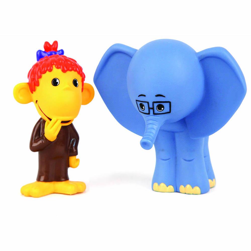 Пластизоль GT5978 Мартышка и Слоник, в сеткеGT5978Забавные фигурки Мартышки и Слоника, выполненные из пластизоля, станут любимыми друзьями Вашего ребенка. Игрушки порадуют малыша и превратят купание в удовольствие, а игра с ними поможет развить мелкую моторику рук, воображение, цветовосприятие и концентрацию внимания. При производстве игрушек используются новейшие технологии и высококачественное американское сырье без применения фталатов. Все игрушки расписаны вручную и отличаются точной прорисовкой деталей. Размер игрушки: 9 см.