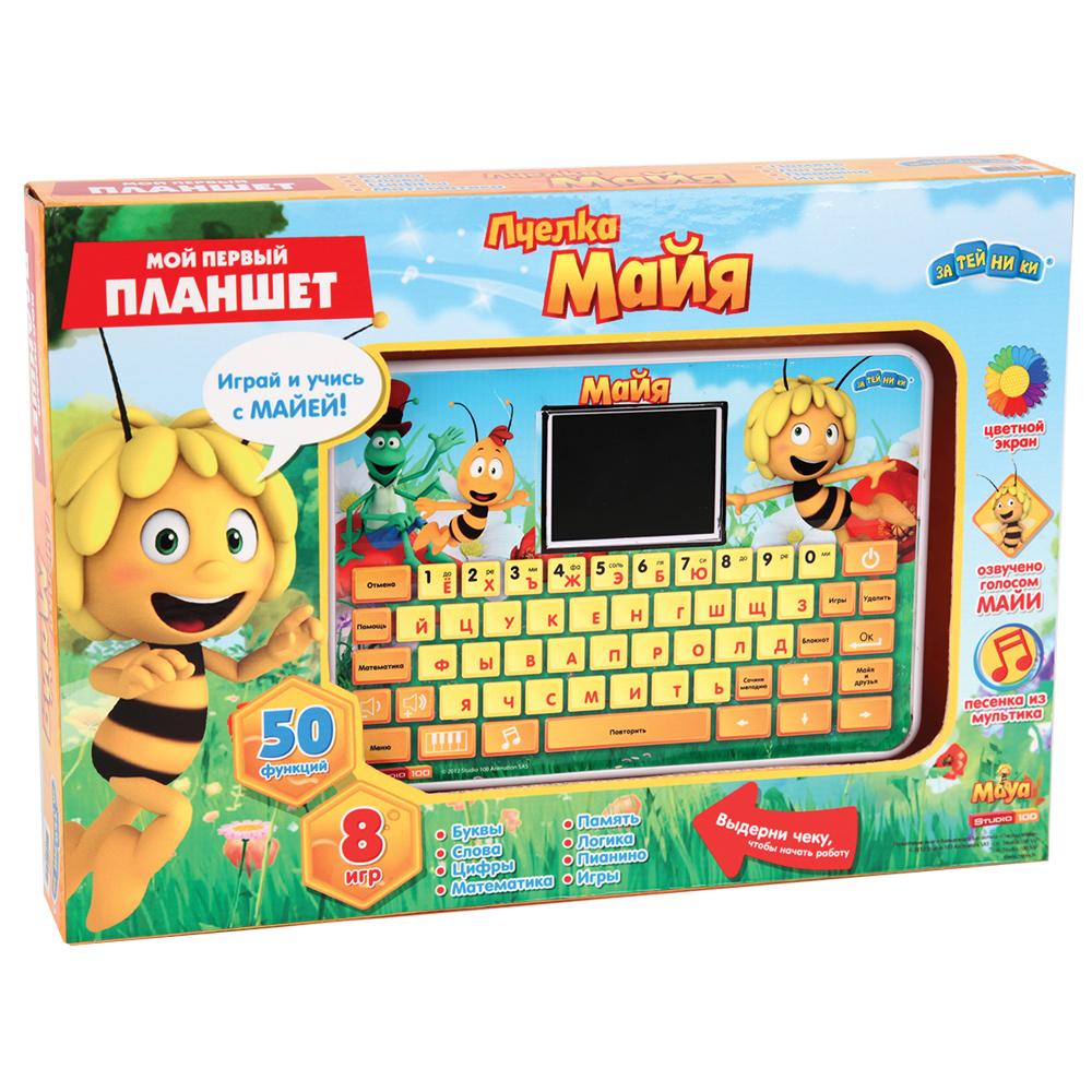 Компьютер планшет с цветным экраном Пчелка Майя, 53 функции + 8 игр82020Этот детский компьютер с цветным дисплеем, озвучен голосом Майи , разработан специально для дошкольной подготовки детей от 3 до 6 лет. Каждый раздел состоит из нескольких упражнений, направленных на развитие логики, мышления, памяти. Обучающие программы и игры в увлекательной форме помогут ребятам узнать и закрепить новые знания. Функции: 53 задания (включая блокнот),8 игр,1 песенка из мультфильма, автоматическое отключение. Описание функций: 1. Учим буквы и цифры. 2.Найди пропущенную букву 3.Найди парную строчную букву 4.Учим буквы и слова 5. Напиши слово 6.Найди пропущенную букву 7.Сосчитай звёздочки 8.Подбери слово по картинке 9. Напиши букву или цифру 10. Выбери большее число 11. Учимся вычитать 12.Создай мелодию 13.Найди вторую половинку 14. Учимся складывать 15. Учимся отличать буквы от цифр 16. Зеркало 17. Лево или право 18. Упражнение на умножение 19. Пропущенные слоги 20. Найди цифру 21. Упражнение на деление