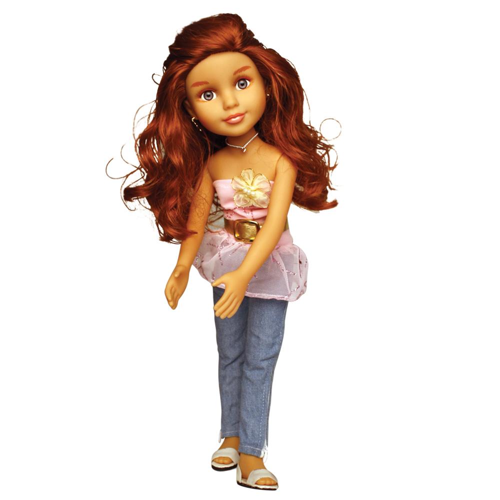 Кукла EI80033R Аннета, функциональная, с дневником для девочки, с каталогом, в коробкеEI80033RПрелестная куколка из серии «Веселые подружки» умеет петь и говорить такие фразы как «Привет», «Давай дружить», «Я твоя кукла, а ты моя подружка» и многое другое. Куколку зовут Аннета, она большая любительница животных. Девочка может играть с куколкой, представляя себя парикмахером — может заплетать куколке красивые прически. У куклы роскошные волосы, подвижные голова и туловище, сгибающиеся в коленках ноги и очень красивые голубые, реалистичные глаза. В наборе к куколке идет дневник для девочки, игрушка русифицирована.