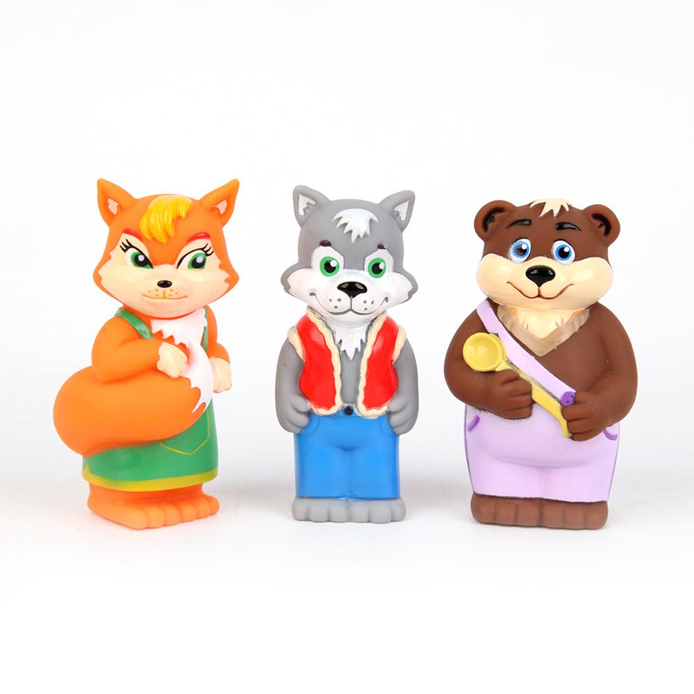 Пластизоль GT7144 Набор Лисичка, Волк и Медведь 3 шт в пакетеGT7144Забавные фигурки «Лисичка, Волк и Медведь», выполненные из пластизоля, станут любимыми друзьями Вашего ребенка. При производстве игрушек используются новейшие технологии и высококачественное американское сырье без применения фталатов. Все игрушки расписаны вручную и отличаются точной прорисовкой деталей.