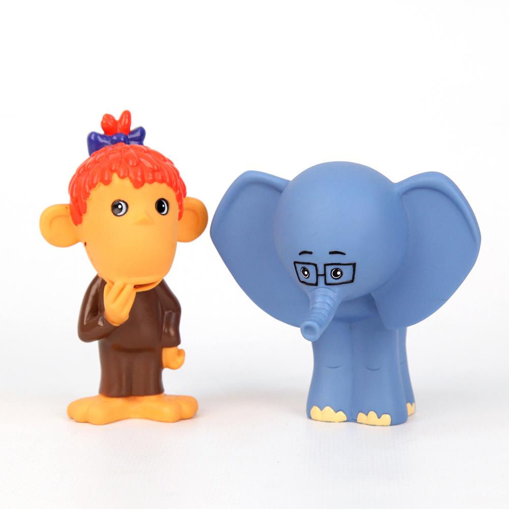 Пластизоль GT7170 Мартышка и Слоник в сеткеGT7170Очень милые игрушки для детишек, любящих Мартышку и Слоника! Они очень похожи на мультяшных героев. Занимательная игрушка для игры в воде. Знакомит малыша с героями мультфильмов. Развивает координацию движений. Яркие цвета развивают цветоощущения ребенка.