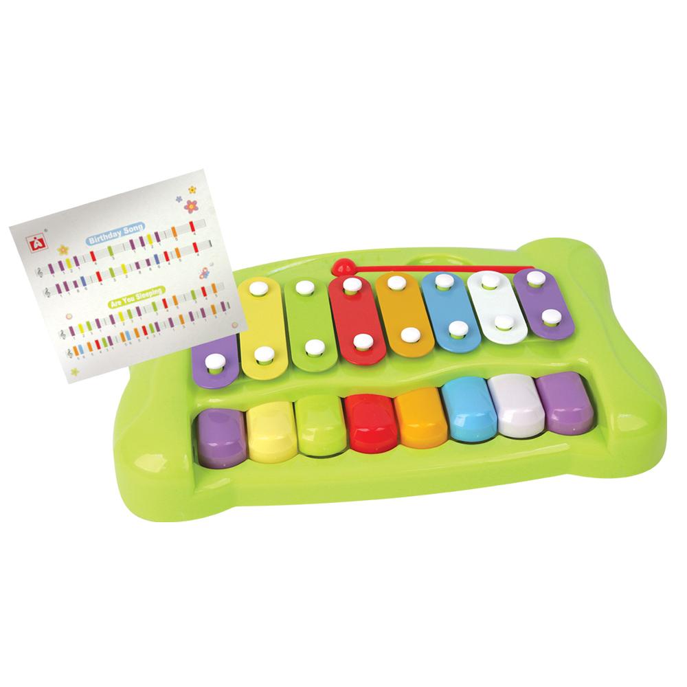 Металлофон GT8543 2в1, в коробкеWA1204/EG10554Металлофон очень красочный и яркий. Познакомит вашего малыша с музыкальными нотами.