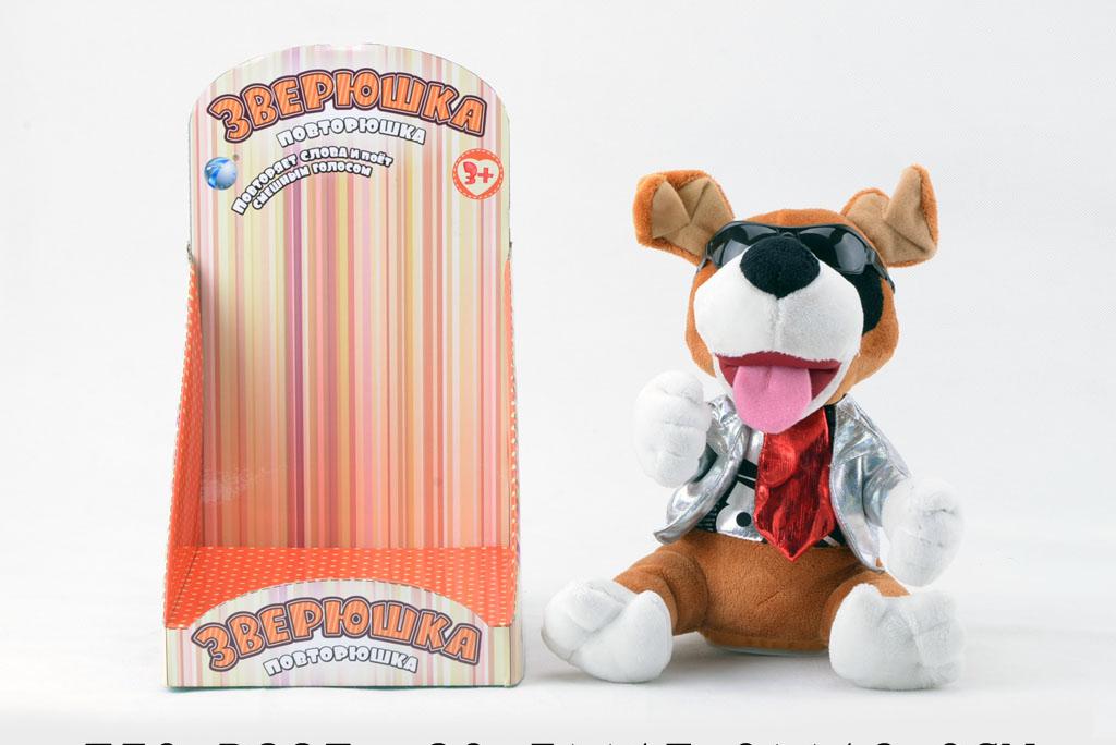Собака CL1506B Повторюшка со звуком, на батарейках, в коробкеT50-D997Собака-повторюшка марки – отличный вариант развивающей игры для малышей. Игрушка выполнена из мягких тканей, безопасна в применении, не имеет острых и мелких частиц, что делает ее безопасной в использовании. Активировать ее можно механическим способом нажатием на рычажок, расположенный на нижней панели. Маленькие батарейки, которые входят в ее комплект, способны обеспечить длительную работу игрушки. Вместе с тем, они надежно скрыты специальной панелью, которая плотно завинчена. Такая игрушка способна помочь ребенку в процессе обучения навыкам общения, изучения новых слов. Играть с такой вещицей интересно и увлекательно сможет каждый малыш.