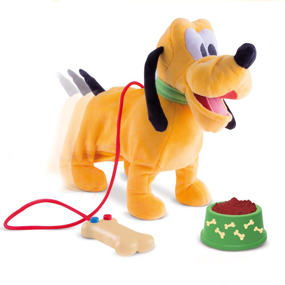 Собака 181243 Pluto интерактивная, на батарейках, в коробке181243Возьмите Плуто погулять в парк! Он так смешной, и он делает то, что вы говорите ему! Он ходит, останавливается, лает, виляет хвостом. Проведите приятно время гуляя с Плуто!