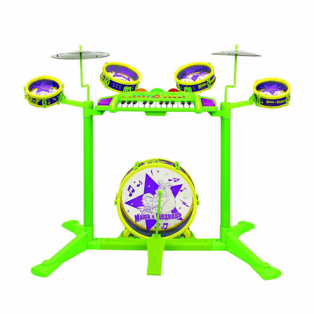 Барабан GT8630 с синтезатором, в коробкеGT8630Барабан с синтезатором Маша и медведь - это яркий музыкальный инструмент для детей в возрасте от 3 лет. Данный инструмент развивает чувство ритма и артистизм. Барабан послужит замечательным подарком творческому ребенку.
