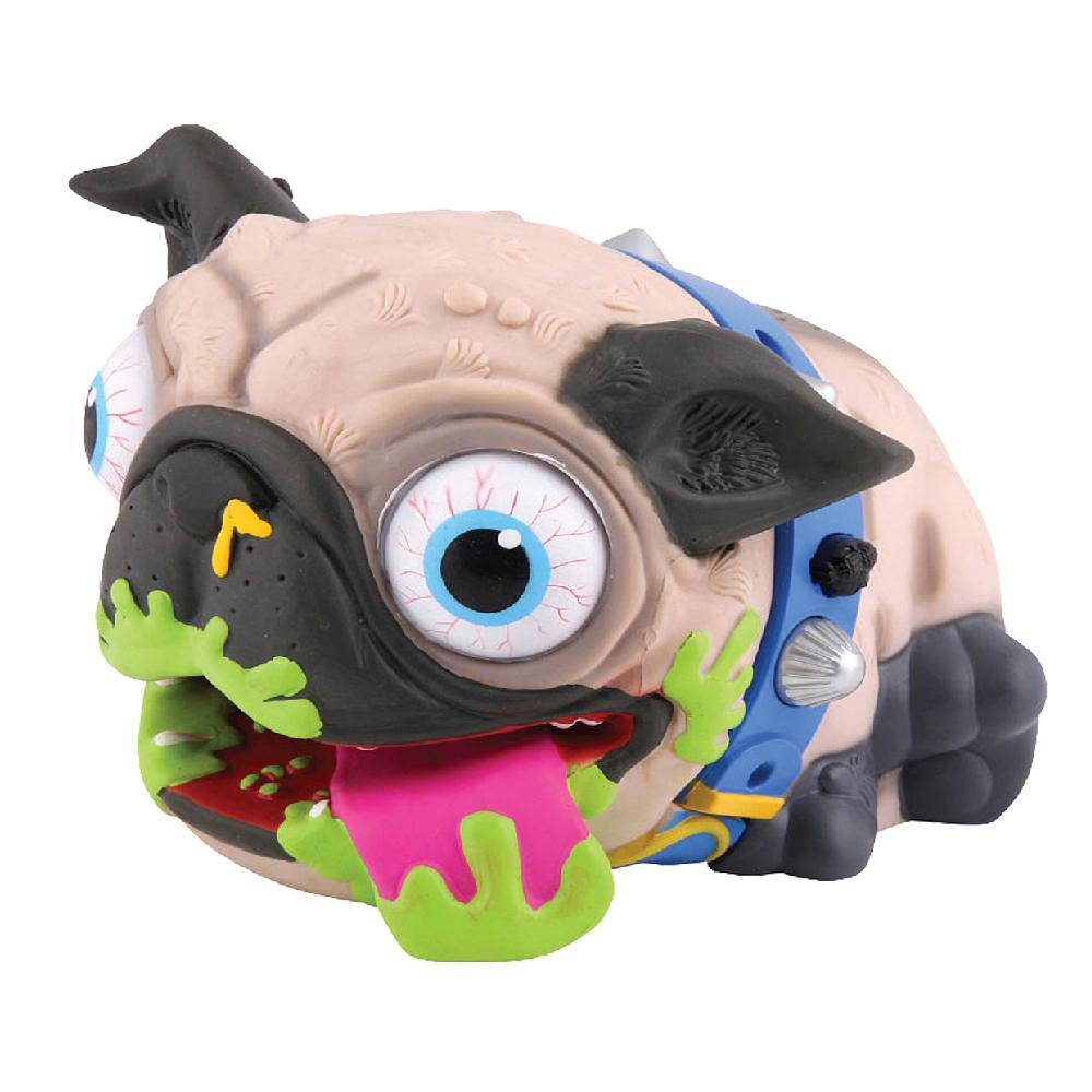 Собака интерактивная Ugglys19400Игрушка собака вонючка Ugglys одевается на руку. Отвратительная но жутко смешная и весёлая собака Углис развеселит любую самую скучную компанию и создаст отличное настроение на любой вечеринке. Страшная собака Угглус может даже неожиданно напугать ведь, она такая мерзкая на вид. Но внешним видом Углус всё не ограничивается. Ugglys может издавать до 30 мерзких и отвратительных звуков о которых даже говорить и писать стыдно. Но на весёлых вечеринках и корпоративах отвратительная собака Углус просто гвоздь программы и всегда в центре внимания. Углус противная собака, бешеные глаза которой всегда на выкате, пасть в слюнях и обьедках, язык наружу. Дизайнеры наверно увидели живой прототип ужасной собаки грязнули на помойке или в мусорном баке. Гадкая собака на руку это отличный способ применения громкой и ужасной игрушки..Но в целом внешний вид пса-гязнули и вонючки - отлично передаёт задор, веселье этой сумашедшей собаки. Да к тому же Ugglys ещё и ужасно храпит когда спит. Смотреть...