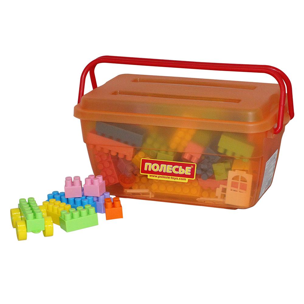 Конструктор 50410 Строитель 124 элемента, в контейнере50410Конструктор - необходимая игрушка в любой детской комнате, которая надолго займет внимание вашего ребенка. В комплект входят 124 пластиковых элемента, с помощью которых ребенок сможет складывать невообразимые постройки. Все детали конструктора имеют большие формы и безопасны для здоровья малыша. Детали легко и прочно соединяются между собой. Постройки можно применить для сюжетно-ролевых игр. Игра с конструктором развивает образное и пространственное мышление, стимулирует фантазию и творческое воображение, организаторские навыки и речь. Во время игры ребенок познакомится с основными цветами, научится различать фигуры, форму и цвет, сможет развить мелкую моторику рук, логику и творческое мышление.