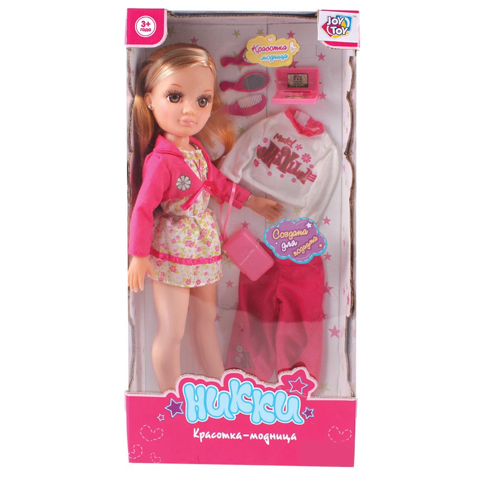 Кукла 5319 Никки-модница с одеждой и аксессуарами в коробкеB366-H43098Очаровательная куколка Никки порадует любую девочку и поднимет настроение. Никки – красавица и такая модница! Одета куколка в стильный наряд, в комплект входят различные аксессуары для интересной игры (сумочка, зеркальце, расчески), а также дополнительная одежда. Ребенок сможет переодевать куклу и создавать ей новые образы, а аксессуары, входящие в набор, позволят придумать множество сюжетов для увлекательных игр. Игрушка изготовлена из высококачественных и безопасных материалов, способствует развитию воображения, фантазии и мелкой моторики рук.