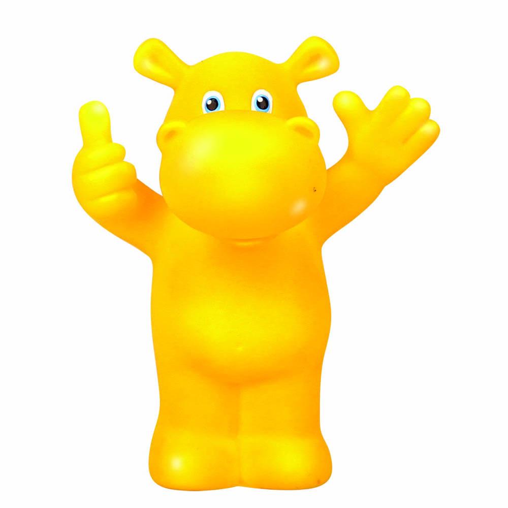 Пластизоль GT8607 Бегемот, в сеткеGT8607Яркий резиновый бегемотик окрашен безопасными для ребенка красителями в желтый цвет. Игрушку можно брать с собой в ванную и играть ей во время купания. Также игрушку легко мыть: она не боится воды, и у нее нет каких-либо выступающих или труднодоступных элементов.