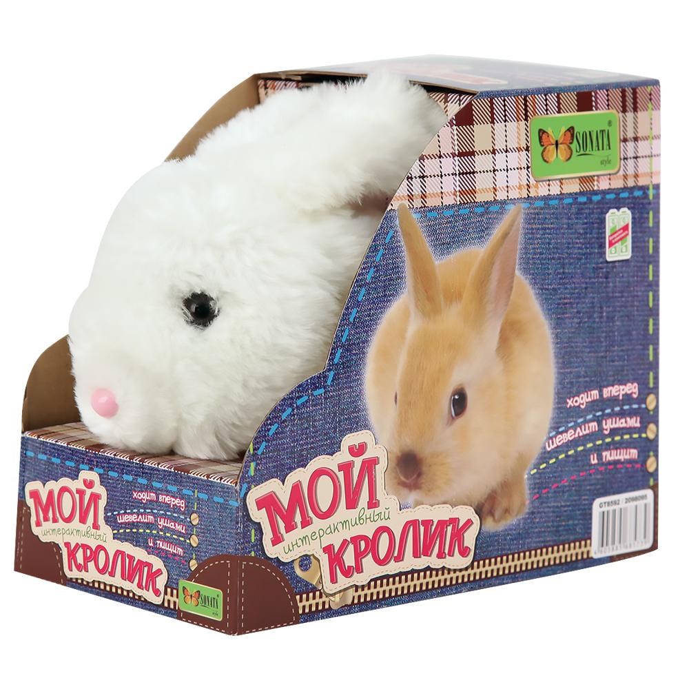 Кролик (ходит вперед, шевелит ушами, пищит) со звуком8822Поселившись в вашем доме, кролик станет лучшим другом для вашего ребенка.Набор функций, среди которых звуковые сигналы и различные движения делают его так похожим на настоящее животное. Игрушка легка в применении и является замечательным вариантом для развития у малышей навыков общения с животным такого вида.