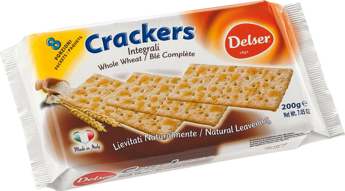 Delser крекеры из непросеянной муки0455Delser не использует генномодифицированные продукты, гидрогенизированные жиры и транс-жиры, красители и консерванты. Постоянно ищет новые ингредиенты и рецептуры, при этом не забывая свою историю и не изменяя своим традициям, что позволяет удовлетворять вкусы потребителей уже много лет.