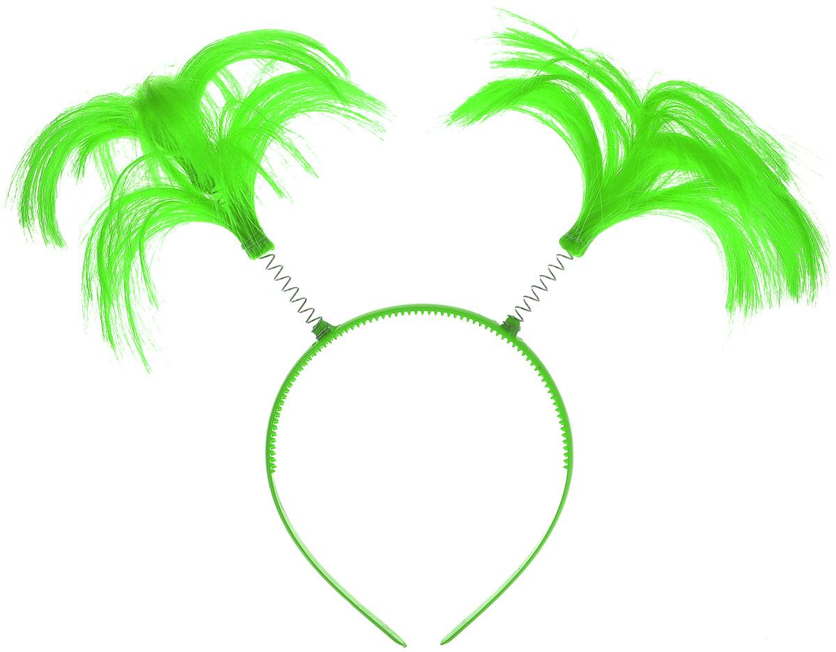 Ободок маскарадный Феникс-Презент Пеппи, цвет: зеленый34605Маскарадный ободок Феникс-Презент Пеппи выполнен из пластика и дополнен хвостиками из полиэстера на металлических пружинах. Ободок имеет универсальный размер. Если у вас намечается веселая вечеринка или маскарад, то такой аксессуар легко поможет создать праздничный наряд. Внесите нотку задора и веселья в ваш праздник. Веселое настроение и масса положительных эмоций вам будут обеспечены! Высота хвостика: 11 см.
