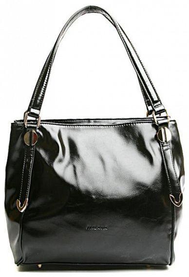 Сумка женская Milana, цвет: черный. 151608-1-110151608-1-110Элегантная сумка Milana выполнена из искусственной кожи. Изделие закрывается на застежку-молнию. На лицевой стороне изделия - один втачной карман на застежке-молнии. Внутри - одно большое отделение. Также внутри - один втачной карман на застежке-молнии, один навесной карман на застежке-молнии и два не больших накладных кармашка для телефона и разных мелочей. Сумка дополнена продольным карабином. На дне сумки расположены металлические ножки, что помогает защитить ее от механических повреждений. В этом сезоне этот модный аксессуар поможет вам быть в тренде!