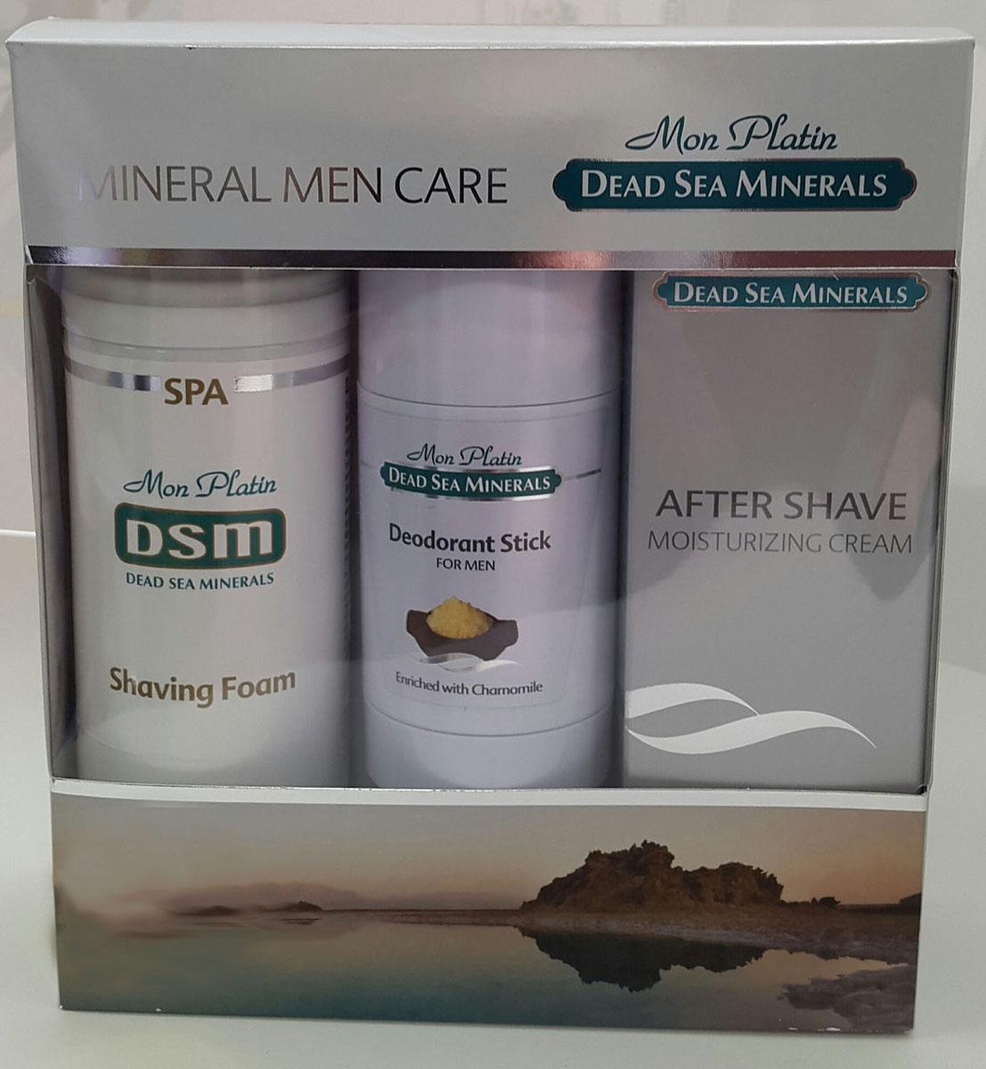 Mon Platin DSM Подарочный набор для мужчин для лица (Увлажняющая эмульсия после бритья 150 мл, Пена для бритья 250 мл, Дезодорант для мужчин 80 мл )101477-258Подарочный набор для мужчин Mon Platin серии Dead Sea Minerals, включает в себя пену для бритья 250 мл, увлажняющую эмульсию после бритья 150 мл и дезодорант для мужчин 80 мл. Пена для бритья обеспечивает легкий и качественный процесс бритья, надолго сохраняя кожу лица гладкой и чистой. Пена не вызывает раздражения и аллергии. Пена насыщена Минералами (26 минералов) и солью Мертвого моря, что благоприятно влияет на питание и увлажнение кожи, обладает омолаживающим и регенерирующим эффектом. Увлажняющая эмульсия после бритья отличается деликатным воздействием: она смягчает, расслабляет кожу и предотвращает появление раздражения на ней. Бальзам после бритья прекрасно подходит для ежедневного применения. Дезодорант для мужчин эффективно нейтрализует неприятные запахи, не забивает поры, создает ощущение свежести в течение всего дня, не оставляет следов на одежде. Обладает приятным терпким ароматом. Содержит минералы и соль Мертвого моря, что благоприятно влияет на состояние кожи.