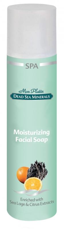 Mon Platin DSM Увлажняющее мыло для лица-освежающий эффект 250 млDSM183Увлажняющее мыло для лица прекрасно очищает, увлажняет и освежает кожу лица. Это препарат приготовлен на основе водорослей и граната, предохраняющих кожу от старения, и экстракта цитрусовых, который помогает сохранять кожу чистой, освежает и придаёт ей здоровый вид. Мыло содержит минералы Мёртвого моря. Эффект совместного воздействия натуральных компонентов и новейших составляющих препарата, защищающих кожу лица, сочетается с нежным запахом.