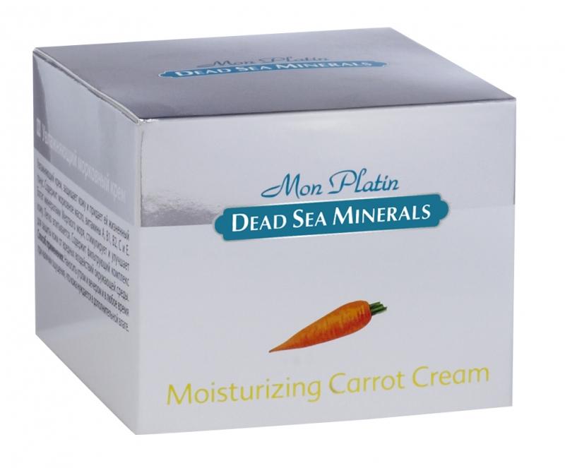 Mon Platin DSM Увлажняющий морковный крем 50 млDSM73Морковный крем имеет богатейший состав витаминов (А, В, С, Е), которые усиливают действие друг друга. Обладает мягкой приятной консистенцией и нежной отдушкой. Крем насыщен Минералами и солью Мертвого моря, что благоприятно влияет на питание кожи и обладает омолаживающим и регенерирующим эффектом. Витамины Е, А, С укрепляют мембраны клеток, существенно замедляет процесс старения кожи, стимулирует кожное дыхание и кровообращение, повышают упругость и иммунитет кожи. Масло моркови оказывает противовоспалительное, смягчающее, дезинфицирующее и питательное действие. Восстанавливает здоровый цвет кожи, препятствует появлению морщин. Для ежедневного применения. Для всех типов кожи.