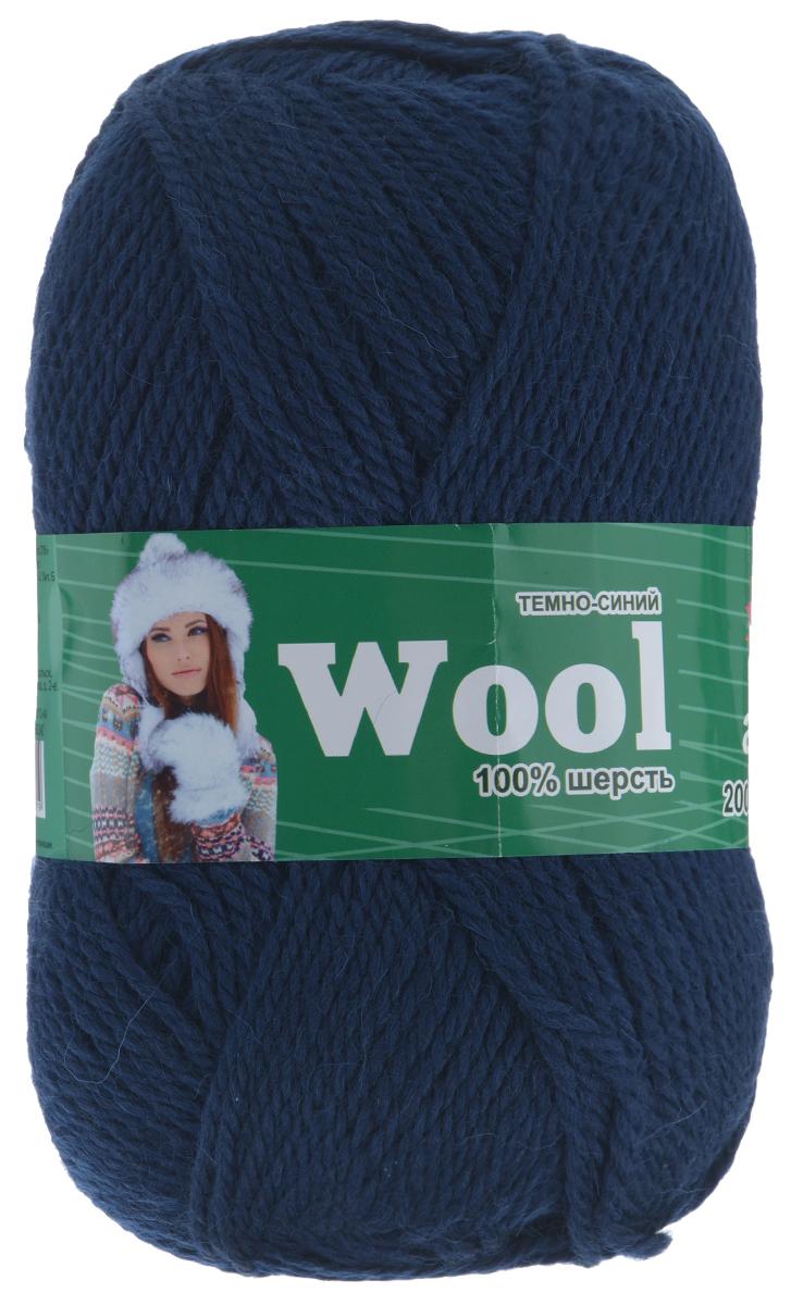 Пряжа для вязания Астра Wool, цвет: темно-синий, 200 м, 100 г, 3 шт488342_ т.синийПряжа для вязания Астра Wool изготовлена из мягкой и высококачественной натуральной импортной полутонкой шерсти. Из нее получается тонкий, но очень теплый трикотаж. Шерстяное волокно имеет высокую упругость, поэтому хорошо держит форму, обладает превосходными гигиеническими свойствами: имеет высокую гигроскопичность и отводит влагу от тела. Рекомендуемые для вязания спицы: 3-5 мм. Рекомендуемый для вязания крючок: 3-5 мм. Состав: 100% полутонкая шерсть.