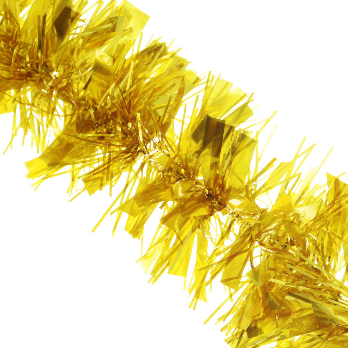 Мишура новогодняя Euro House, цвет: золотистый, диаметр 9 см, длина 200 смЕХ 7412Новогодняя мишура EuroHouse, выполненная из ПЭТ (полиэтилентерефталата), поможет вам украсить свой дом к предстоящим праздникам. А новогодняя елка с таким украшением станет еще наряднее. Мишура армирована, то есть имеет проволоку внутри и способна сохранять придаваемую ей форму. Новогодней мишурой можно украсить все, что угодно - елку, квартиру, дачу, офис - как внутри, так и снаружи. Можно сложить новогодние поздравления, буквы и цифры, мишурой можно украсить и дополнить гирлянды, выделить дверные колонны, оплести дверные проемы. Новогодняя мишура принесет в ваш дом ни с чем не сравнимое ощущение праздника! Создайте в своем доме атмосферу тепла, веселья и радости, украшая его всей семьей.