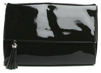 Клатч женский Milana, цвет: черный. 151647-3-710151647-3-710Клатч Milana выполнена из искусственной лакированной кожи. Сумка закрывается клапаном на магнитную застежку и дополнительно на застежку-молнию. Клапан оформлен втачным карманом на застежке-молнии с декоративной кисточкой. На лицевой стороне изделия - один втачной карман на застежке-молнии. Внутри - одно большое вместительное отделение. Также внутри - один втачной карман на застежке-молнии и два небольших накладных кармана для телефона и разных мелочей. Изделие оснащено удобным плечевым ремнем. В этом сезоне этот модный аксессуар поможет вам быть в тренде!