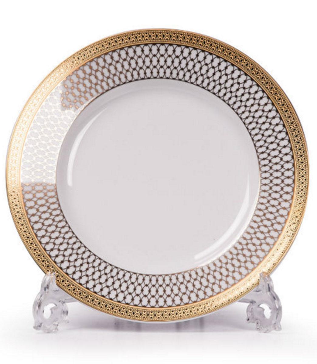 Mimosa Victoire Or 1488, набор тарелок 22см (6шт), цвет: белый с золотом5391171488В наборе тарелка 22 см 6 штук