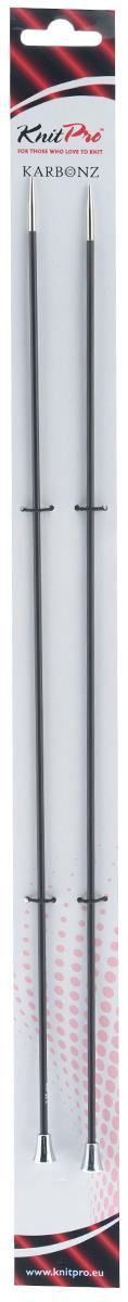 Спицы KnitPro Karbonz, никелированные, прямые, диаметр 2,75 мм, длина 35 см, 2 шт41283Спицы KnitPro Karbonz изготовлены из инновационного метала - углеволокно с никелем и латунным покрытием. Изделие очень прочные и при этом невесомые, что обеспечивает гладкую поверхность, которая позволяет петлям перемещаться свободно и быстро. Вы сможете вязать для себя и делать подарки друзьям. Рукоделие всегда считалось изысканным, благородным делом. Работа, сделанная своими руками, долго будет радовать вас и ваших близких. Комплектация: 2 шт.