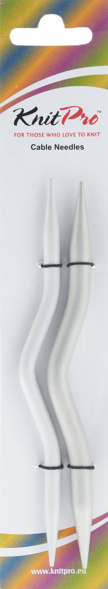 Спицы KnitPro, вспомогательные выгнутые, алюминиевые, 2 шт45503Вспомогательные спицы KnitPro выполнены из высококачественного алюминия выгнутой формы. Они способствует созданию непревзойденных шедевров из пряжи. Зауженные кончики спиц, гладкое скольжение по поверхности - гарантируют легкость вязания, без всякой усталости. Изделия предназначены для временного снятия петель с основной спицы и получения узора. Комплектация: 2 шт. Диаметр спиц: 6 мм; 8 мм.