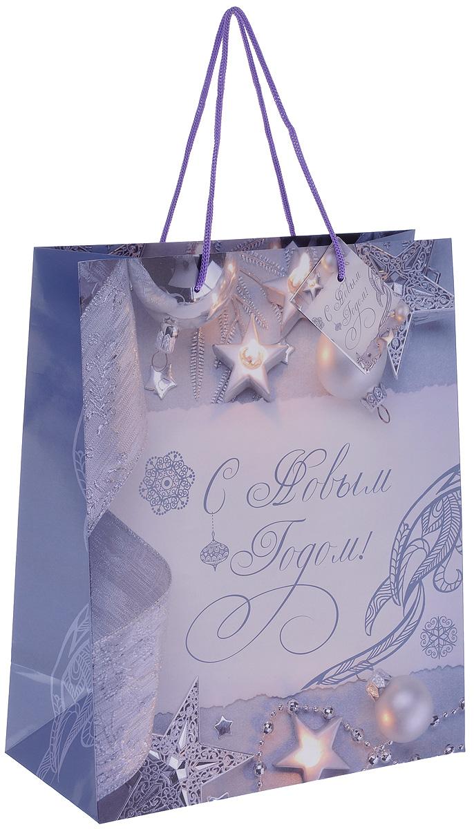 """Пакет подарочный Феникс-Презент """"Блеск серебра"""", 26 х 32,4 х 12,7 см 38541"""