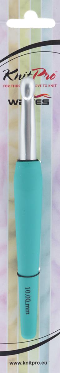 Крючок для вязания KnitPro Waves, диаметр 10 мм30918Крючок KnitPro Waves, изготовленный из алюминия, оснащен эргономичной пластиковой ручкой с покрытием soft-touch. Он предназначен для вязания и плетения из ниток, ручного изготовления полотна. Вязание крючком применяют как для изготовления одежды целиком, так и отделочных элементов или украшений. Вы сможете вязать для себя и делать подарки друзьям. Рукоделие всегда считалось изысканным, благородным делом. Работа, сделанная своими руками, долго будет радовать вас и ваших близких. Подарок, выполненный собственноручно, станет самым ценным для друзей и знакомых.