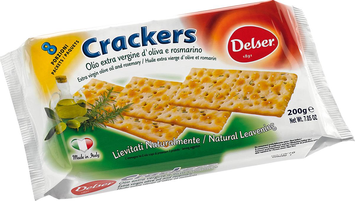 Delser крекеры с розмарином и оливковым маслом