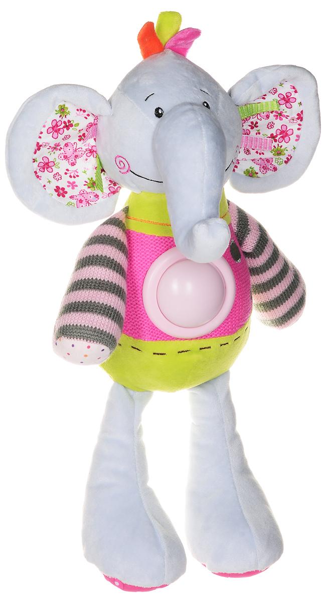 Little Beetle Мягкая игрушка Слоненок со светом 42 смGH61496Яркая мягкая игрушка Слоненок понравится вашему малышу и не позволит ему скучать! Игрушка выполнена в виде очаровательного слоника из текстильных материалов различных фактур и цветов. Если нажать на большую кнопку на животе игрушки, то она будет мягко мерцать с эффектом ночника. Очаровательная игрушка Слоненок станет прекрасным подарком для вашего ребенка или близкого человека. Она изготовлена из качественных материалов, которые абсолютно безвредны для детей. Данная модель подарит хорошее настроение вам и вашему малышу. Игрушка способствует развитию воображения и тактильной чувствительности у детей и подарит прекрасное настроение. Для работы необходимо 3 батарейки типа ААА (в комплект не входят).