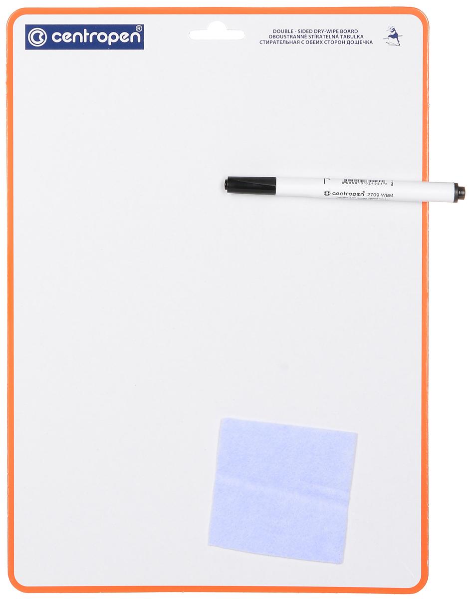 Centropen Доска для рисования с маркером8595013601334С доской для рисованияCentropen ваш ребенок может рисовать и писать снова и снова! Доска со специальным ламинированным покрытием и с одной стороны разлинована в клетку, что облегчит ребенку рисование и написание цифр и букв. Ребенок сам сможет писать и рисовать с помощью маркера. В комплект входят маркер и салфетка для стирания надписей и рисунков. Доска имеет удобную петельку для подвешивания.