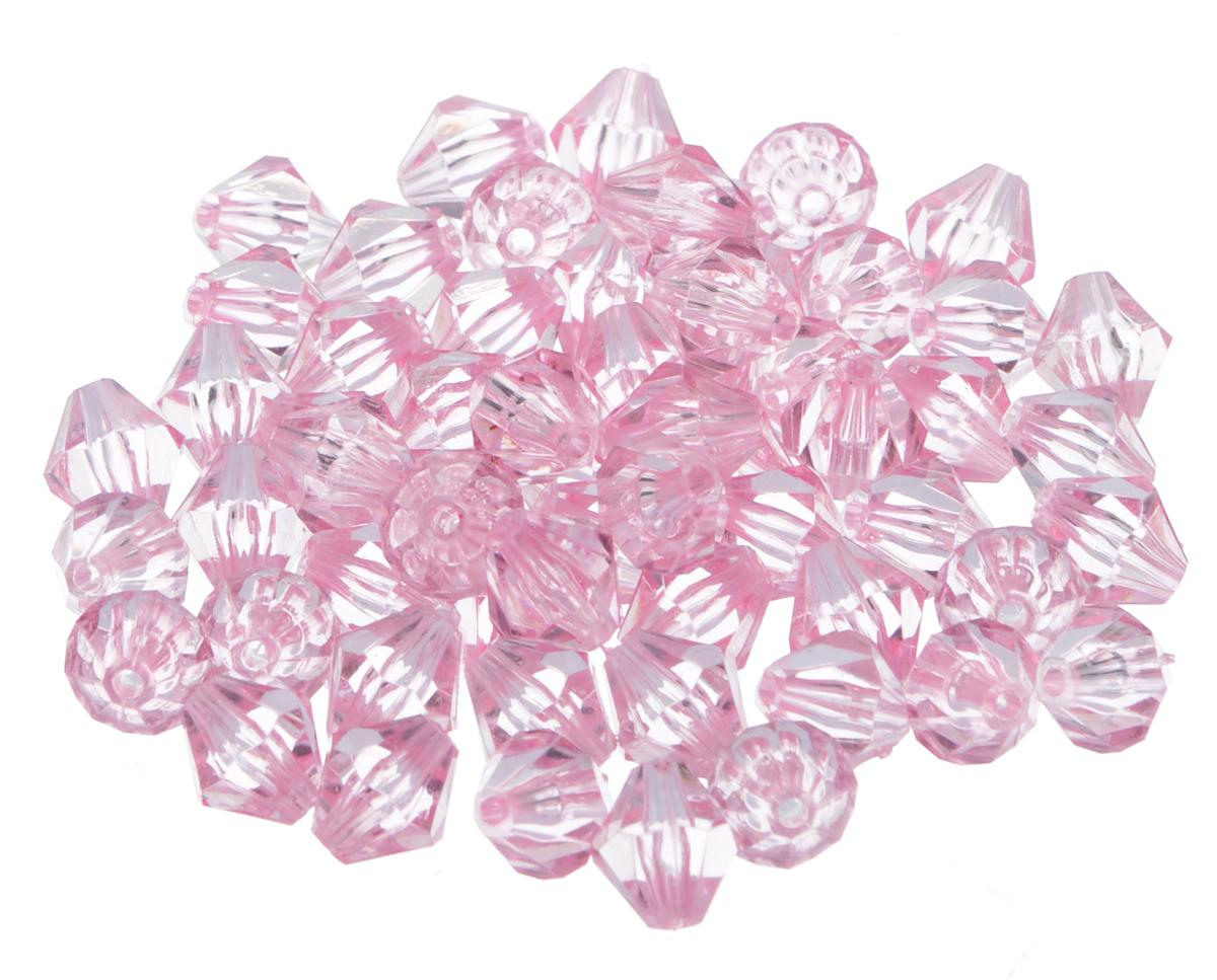 Бусины Астра, цвет: бледно-розовый (3), 10 мм х 11 мм, 25 г. 684981_171684981_3Набор бусин Астра, изготовленный из акрила, позволит вам своими руками создать оригинальные ожерелья, бусы или браслеты. Одноцветные ромбовидные бусины оригинального и яркого дизайна оснащены рельефными, многогранными поверхностями. Изготовление украшений - занимательное хобби и реализация творческих способностей рукодельницы, это возможность создания неповторимого индивидуального подарка. Размер бусины: 10 мм х 11 мм.