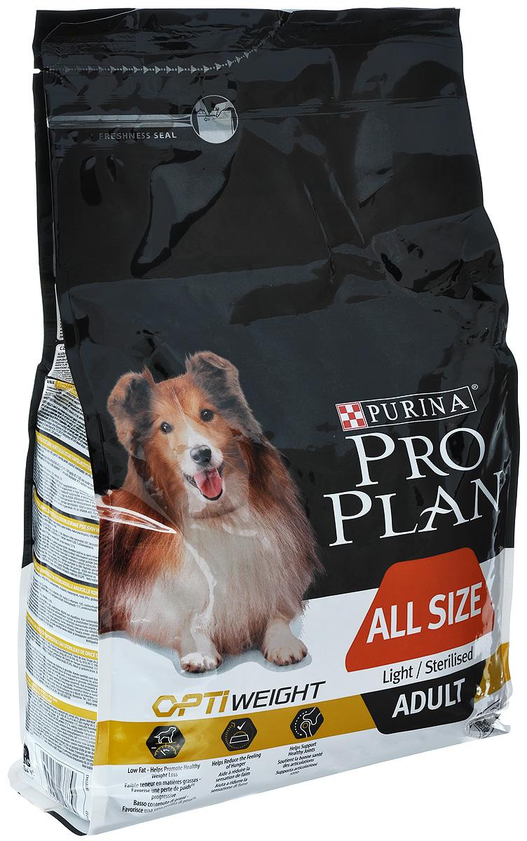 """Корм сухой Pro Plan """"Optiweight"""" для склонных к избыточному весу и стерилизованных взрослых собак всех пород, с курицей и рисом, 3"""