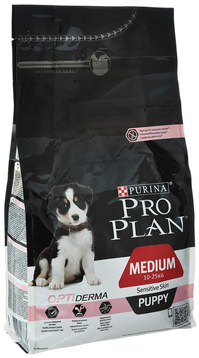 """Корм сухой Pro Plan """"Optiderma"""" для щенков средних пород с чувствительной кожей, с лососем и рисом, 3 кг 12272213"""