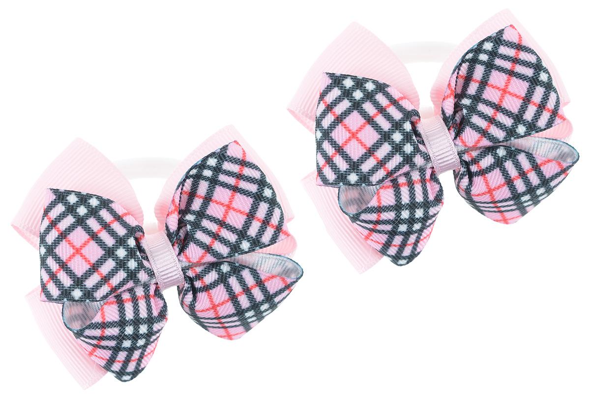 Резинка для волос Babys Joy, цвет: розовый, 2 шт. MN 164/2MN 164/2_розовый/черныйРезинка для волос Babys Joy изготовлена из текстиля и дополнена милым бантиком, который оформлен клетчатым принтом. Резинка для волос Babys Joy надежно зафиксирует волосы и подчеркнет красоту прически вашей маленькой принцессы.