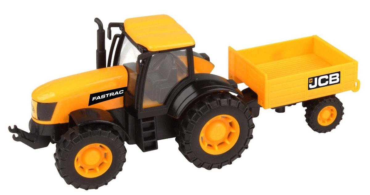 HTI Трактор с прицепом JCBtractor/ast1415662.V15Трактор с прицепом JCB, изготовленный из прочного безопасного материала, отлично подойдет ребенку для различных игр. Заднюю створку прицепа можно поднимать и опускать. Трактор является копией реальной техники и отлично подойдет для игр ребенка на свежем воздухе, а также поможет малышу перевезти мелкие игрушки с места на место. Большие колеса с крупным протектором обеспечивают игрушке устойчивость и хорошую проходимость. Удивите своего маленького строителя новой современной техникой! Такая игрушка, несомненно, обрадует малыша и принесет ему уйму ярких впечатлений. Ваш ребенок сможет прекрасно провести время дома или на улице, воспроизводя свою стройку. Собери целую коллекцию строительной техники JCB для постройки восхитительных сооружений!
