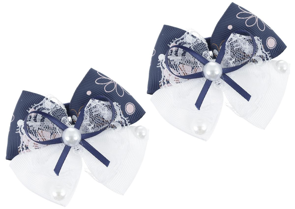 Резинка для волос Baby's Joy, цвет: белый, синий, 2 шт. MN 133