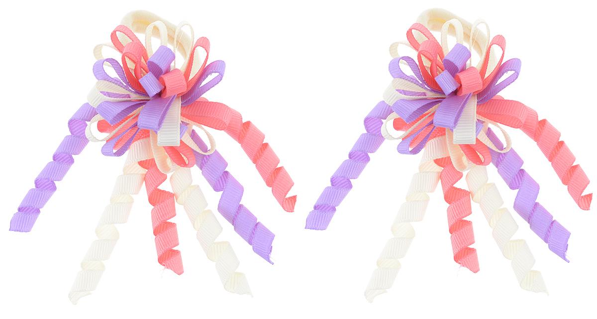 Резинка для волос Babys Joy, цвет: розовый, фиолетовый, кремовый, 2 шт. MN 134/2MN 134/2_кремовый/фиолетовый/розовыйРезинка для волос Babys Joy изготовлена из текстиля и оформлена милым бантиком с завитками. Комплект содержит две резинки. Резинка для волос Babys Joy надежно зафиксирует волосы и подчеркнет красоту прически вашей маленькой принцессы.