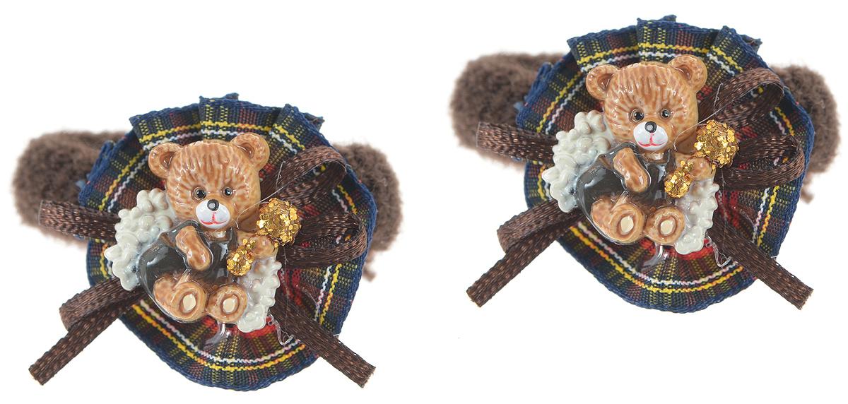 Резинка для волос Baby's Joy, цвет: коричневый, 2 шт. AL 965