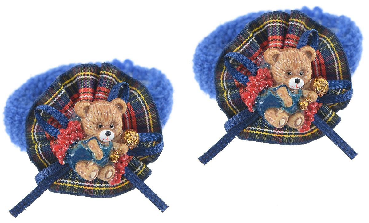 Резинка для волос Babys Joy, цвет: синий, 2 шт. AL 965AL 965_синийРезинка для волос Babys Joy изготовлена из текстиля и дополнена милым бантиком, который оформлен мишкой из пластика. Комплект содержит две резинки. Резинка для волос Babys Joy надежно зафиксирует волосы и подчеркнет красоту прически вашей маленькой принцессы.