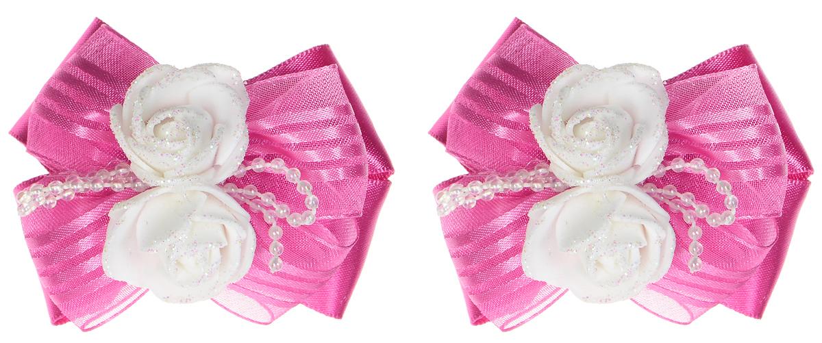 Резинка для волос Babys Joy, цвет: фуксия, 2 шт. MN 133/2MN 133/2_фуксияРезинка для волос Babys Joy изготовлена из текстиля и дополнена милым бантиком, который оформлен очаровательными розочками. Комплект содержит две резинки. Резинка для волос Babys Joy надежно зафиксирует волосы и подчеркнет красоту прически вашей маленькой принцессы.