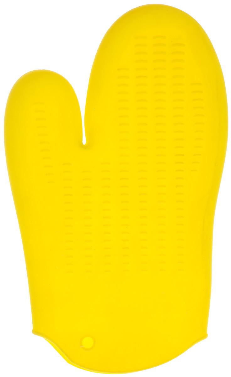 Прихватка-варежка силиконовая Mayer & Boch, цвет: желтый, 26,5 см х 16,5 см22083_желтыйПрихватка-варежка Mayer & Boch изготовлена из цветного силикона. Она способна выдерживать температуру до 230°С. Эластична, износостойка, влагонепроницаема, легко моется. Прихваткой можно брать не только горячие, но и холодные предметы, а также влажные и скользкие.