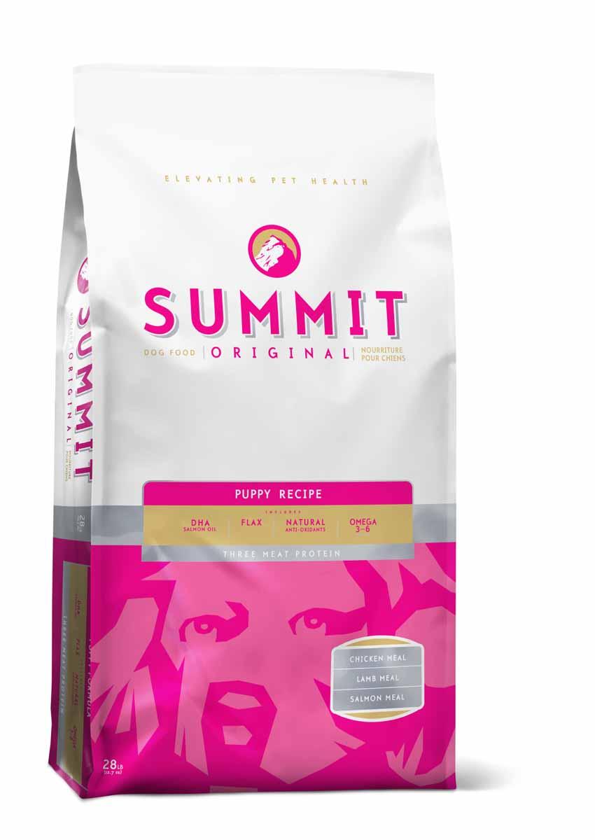 Summit holistic Для щенков три вида мяса с ягненком, цыпленком и лососем (Original Three Meat, Puppy Recipe DF), 12,7 кг.10379Summit Holistic - супер-премиум корм из Канады. При изготовлении Summit Holistic используется уникальное сочетание высококачественных ингредиентов, которые обеспечивают исключительно натуральный вкус и максимальную питательную ценность. Summit Holistic содержит только качественные ингредиенты от давно зарекомендовавших себя фермерских хозяйств компании Petcurean (производители холистик кормов GO! и NOW! Natural). Не содержит субпродуктов, искусственных красителей, сои, кукурузы, мясных ингредиентов, выращенных на гормонах. В состав Summit Holistic входят: высококачественное мясо ягненка; масло канолы; хелатные минералы; льняное масло; юкка Шидигера; сбалансированный комплекс жирных кислот Омега 6 и Омега 3; природные антиоксиданты; ламинария; основные витамины и минералы. Состав: Дегидрированное мясо цыпленка, овсянка, цельный коричневый рис, куриный жир (консервированный токоферолами), дегидрированное мясо ягненка,...