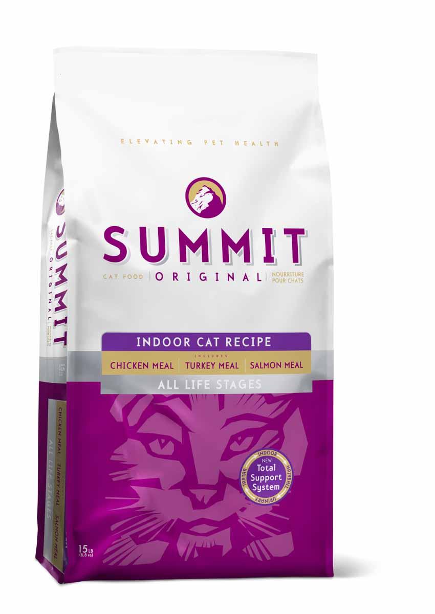 Summit holistic Для домашних кошек три вида мяса с цыпленком, лососем и индейкой - все стадии жизни (Original 3 Meat, Indoor Cat Recipe CF), 6,8 кг.20365Summit Holistic - супер-премиум корм из Канады Все стадии жизни. Оригинальный рецепт для котят и кошек был создан с исключительным подбором ингредиентов премиум-класса, для восхитительного вкуса и исключительных преимущества для здоровья, в том числе помощь в предотвращении вывода шерсти. При изготовлении Summit Holistic используется уникальное сочетание высококачественных ингредиентов, которые обеспечивают исключительно натуральный вкус и максимальную питательную ценность. Summit Holistic содержит только качественные ингредиенты от давно зарекомендовавших себя фермерских хозяйств компании Petcurean (производители холистик кормов GO! и NOW! Natural). Не содержит субпродуктов, искусственных красителей, сои, кукурузы, мясных ингредиентов, выращенных на гормонах. Состав: дегидрированное мясо цыпленка, цельный коричневый рис, овсянка, картофель, горох, куриный жир (консервированный токоферолами), натуральный куриный ароматизатор, дегидрированное мясо лосося,...